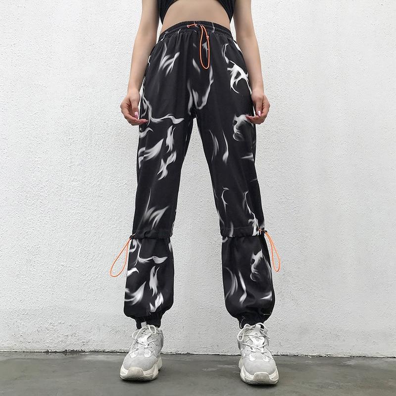 Jazz Hip Hop Costume Black Summer Thin Overalls Pants Street Dance Trousers NightclubSingerDjWomen Ds Rave Clothes DT1445