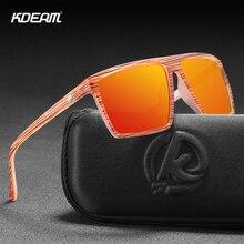 KDEAM High Performance Square Polarized Sunglasses For Men Women Plastic Titanium TR90 Driving Sun Glasses Cat.3 CE KD693