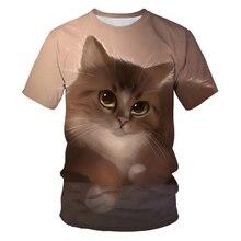 New Cute Cat T Shirt Women Casual Funny Cartoon Print Tshirt Harajuku Kawaii Fas