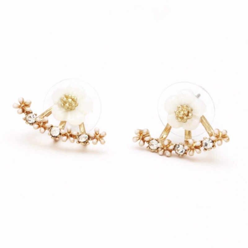 קוריאני תכשיטי זירקון פרל לב קריסטל פרח מלאך כנפי גיאומטריה זרוק להתנדנד עגילים לנשים תכשיטי אוזן הצהרת