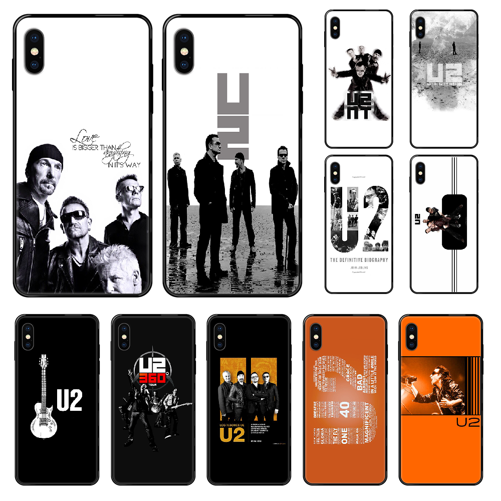 Bono U2 Band Phone case For iphone 4 4s 5 5S SE 5C 6 6S 7 8 plus X XS XR 11 PRO MAX 2020 black art cover 3D funda fashion coque image