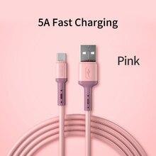 Usb 5A タイプ c ケーブル S20 huawei 社 P40 メイト 30 携帯電話急速充電ワイヤーケーブルオリジナル過給スーパー充電器