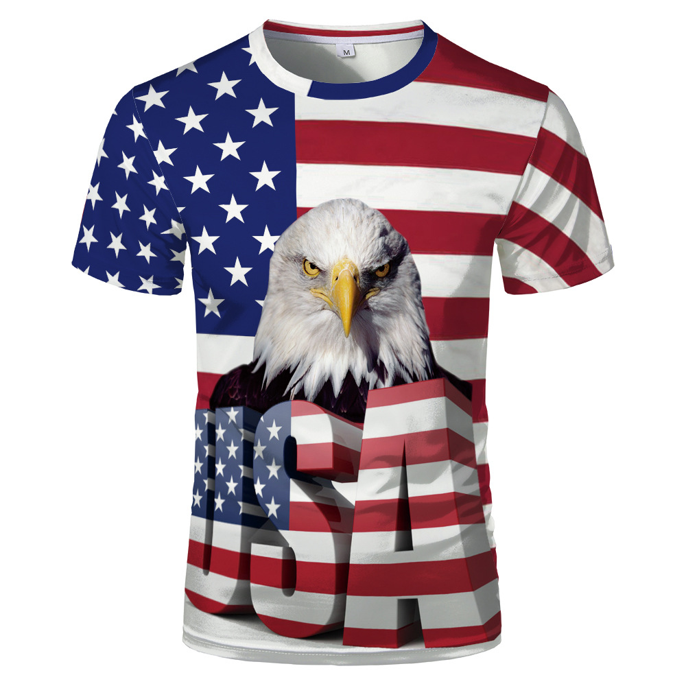 4th of July American Flag Bald Eagle Toddler T Shirt