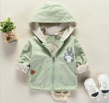 2019 Spring autumn Baby girl clothes Totoro boys jacket Hooded baby coat cartoon Children coat Toddler 3-24M bebes kids clothing цена 2017