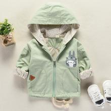 2019 Spring autumn Baby girl clothes Totoro boys jacket Hood