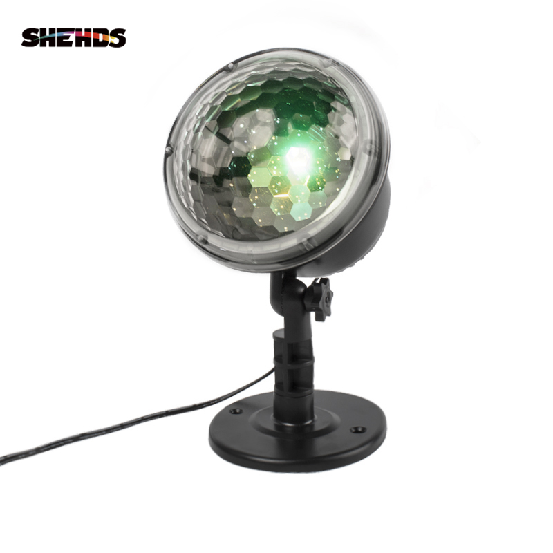 SHEHDS Colorful Remote Control Snowing LED Projector LightRGWY Waterproof Suitable All Holidays Christmas Halloween Effect Light