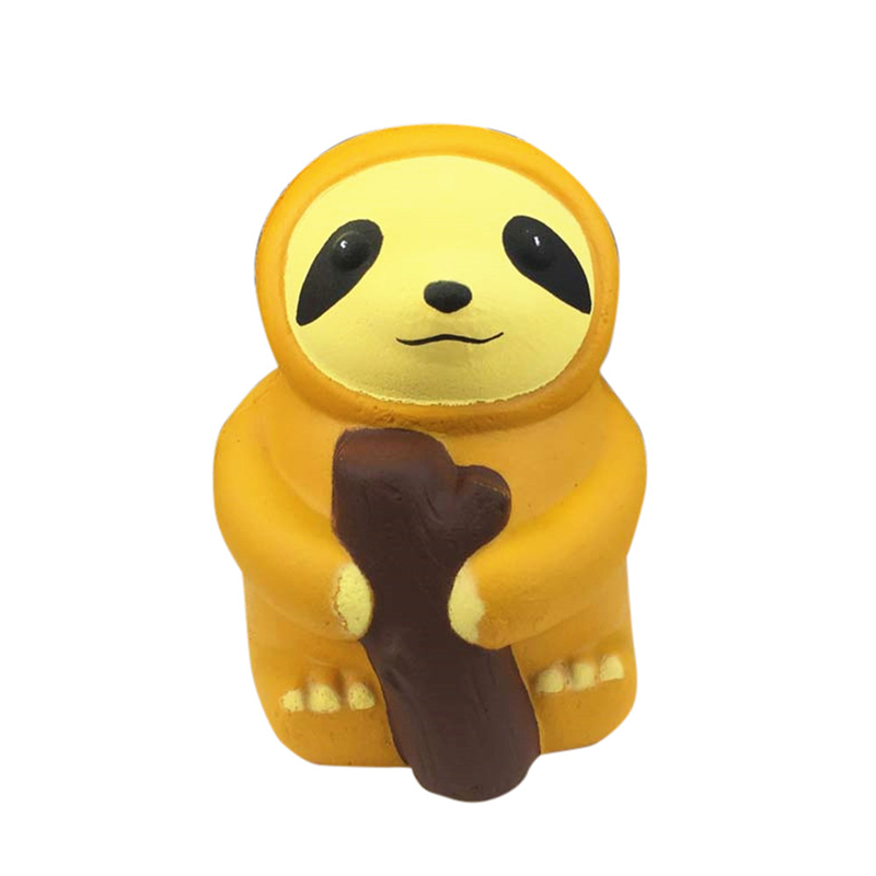 11X8CM Squishy Pack Squichi Kawaii Soft Cartoon Sloth Baking Paint Elastic Decompression Slow Rising Squeeze Relieve Toys A40