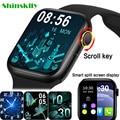 2021 Смарт-часы HW22pro для мужчин и женщин, дисплей с разрезом, Смарт-часы с монитором температуры тела, Bluetooth, звонки для Android, IOS, IWO