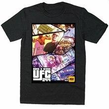 Camisa da rocha do bmf dos homens da camiseta da rocha de jorge masvidal vs nate diaz