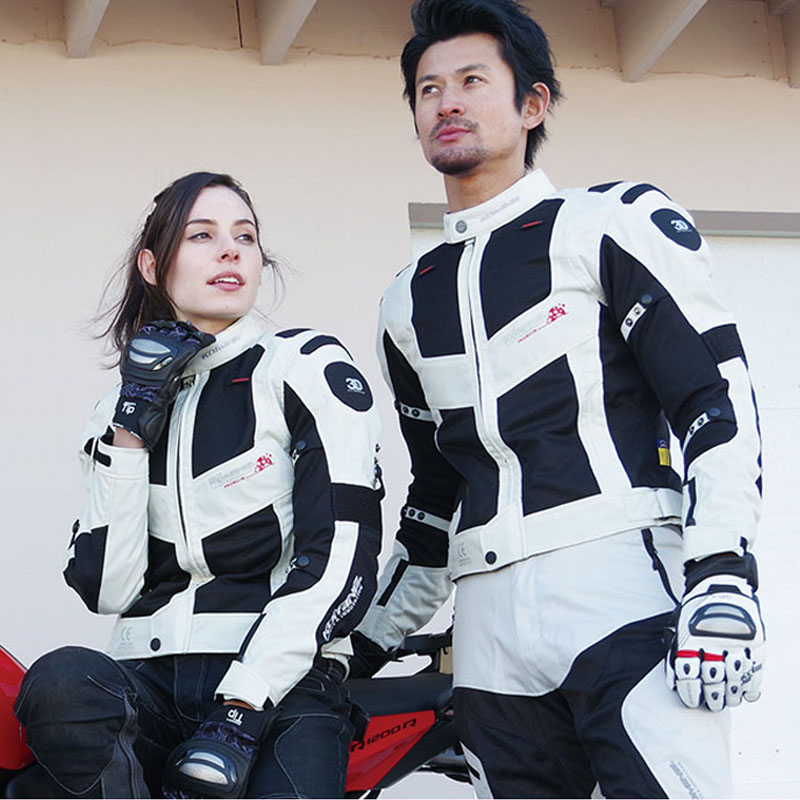 KOMINE Japanese Original Men Motorcycle Jacket Breathable Anti-fall Motocross Racing Protect Gear Protection