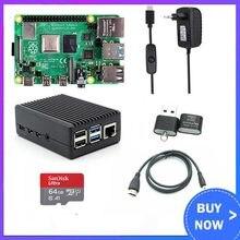 Raspberry Pi 4 2GB 4GB RAM mit ABS Fall Netzteil Aluminium Kühlkörper + HDMI-kompatibel kabel für Raspberry Pi 4 Modell B Pi 4B
