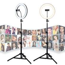 26Cm Đèn LED Selfie Vòng 24W 5500K Studio Chụp Ảnh Ảnh Lấp Vòng Ánh Sáng Với Chân Máy Cho Iphone điện Thoại Thông Minh Kẹp Trang Điểm