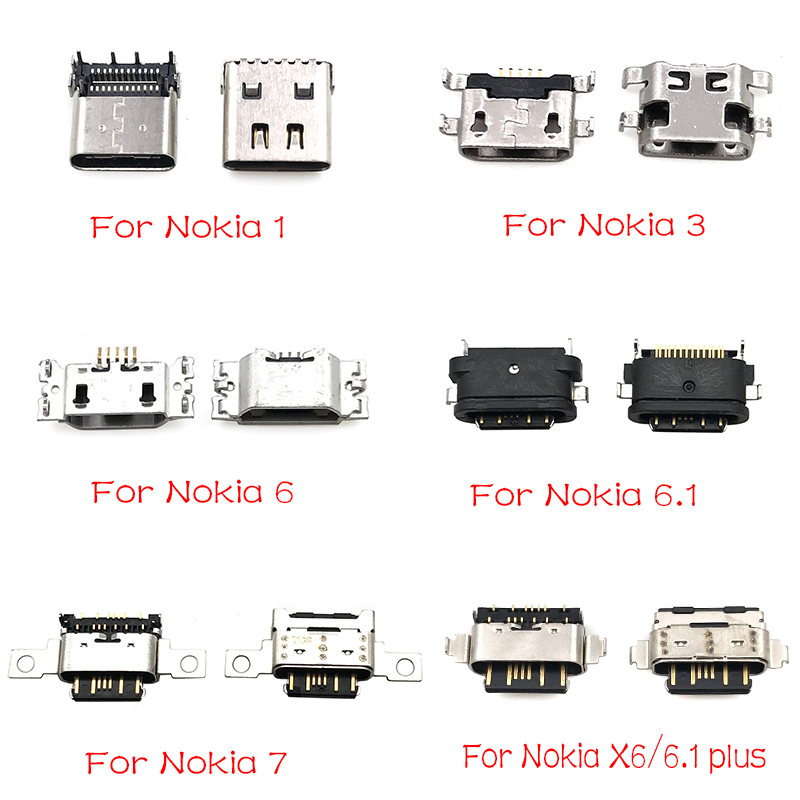 New Micro Usb Connector Charging Port Jack For Nokia 3 6 7 Plus 8 6.1 7.1 5.1 Plus X5 X6 X7 Repair Parts