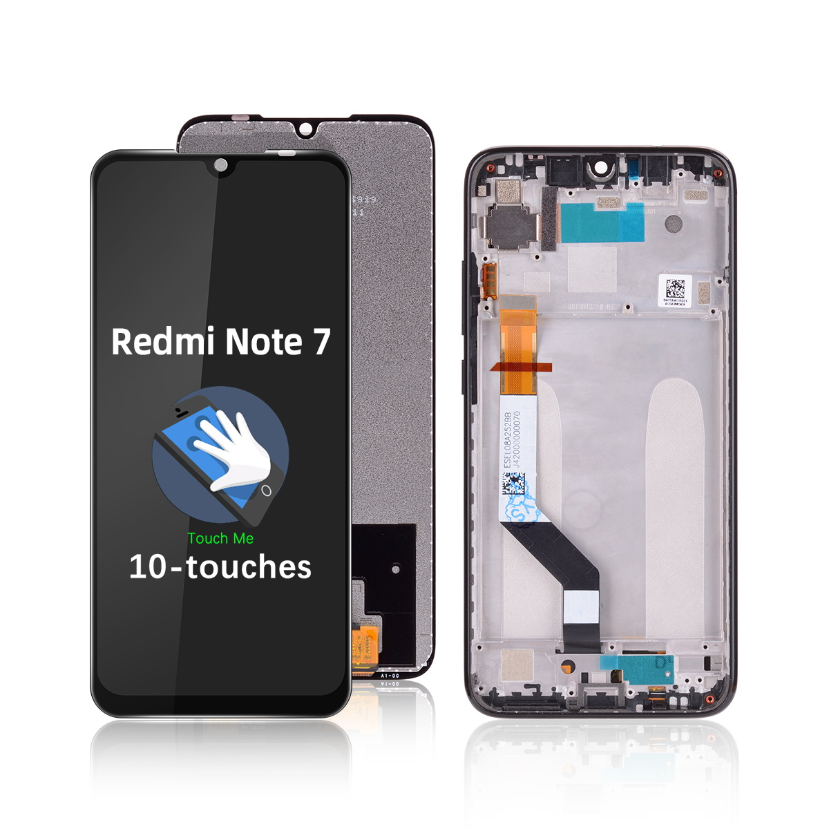 with Frame Replacement Touch Screen Display <font><b>Redmi</b></font> <font><b>Note</b></font> <font><b>7</b></font> <font><b>Pro</b></font> 6.3 inch Replace On undefined image