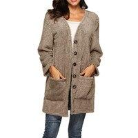 Winter Women Coat Cardigan Coat Long Sleeve V neck Women Clothes Harajuku Chaqueta Mujer Manteau Fourrure Femme 2019 New Futerko