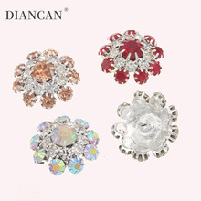 Buttons for Clothing DIY Metal Sewing Bouton Silver Rhinestone Shank Botones Garment Decorativos 20pieces