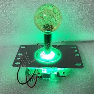 2 pcs Arcade Classic Competition Joystick 5V Lamp LED Lights Illuminated 4 - 8 Way Rocker For Arcade Machine Mame Jamma PC Games
