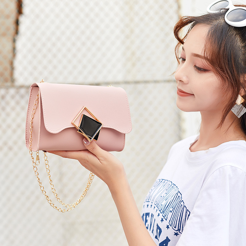 2019 Autumn And Winter New Products Korean-style WOMEN'S Cross-body Bag Si Fang Kou One-Shoulder Chain Square Sling Bag Bag