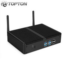 Barato fanless mini pc intel i5 7200u i3 7167u windows 10 barebone sistema unidade computador desktop linux htpc vga hdmi wi-fi 6 * usb(China)
