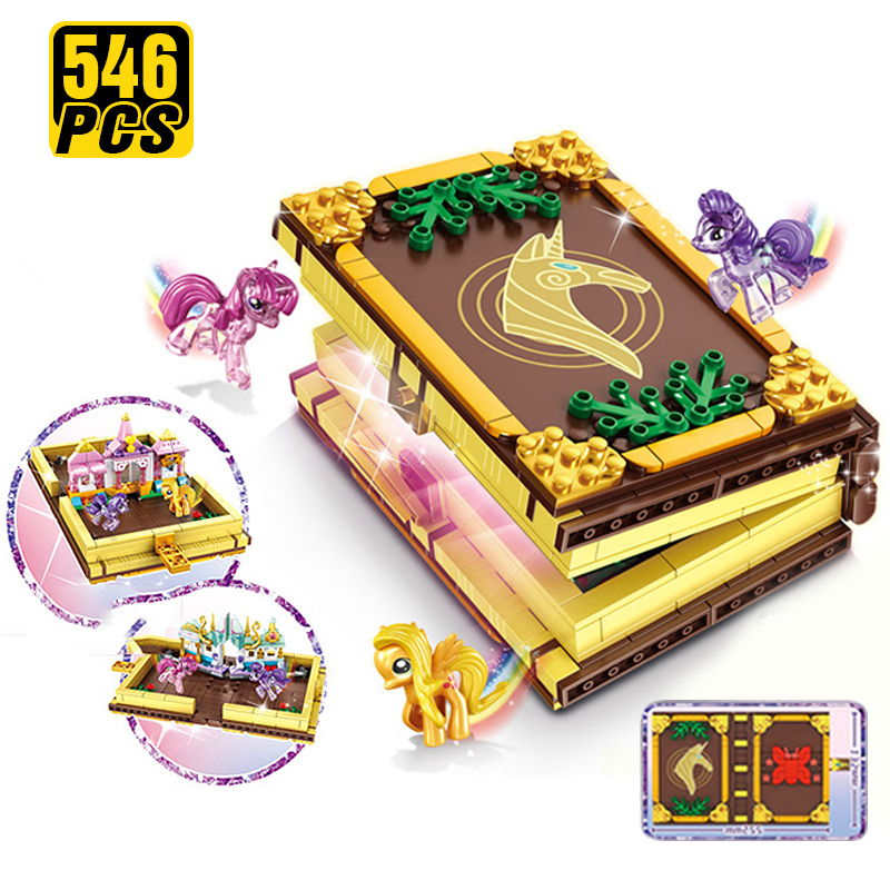 Friends Princess Pony Castle Friendship Is Magic Book Building Block Christmas Cartoon Brick Toys for Girls Toys for Children image