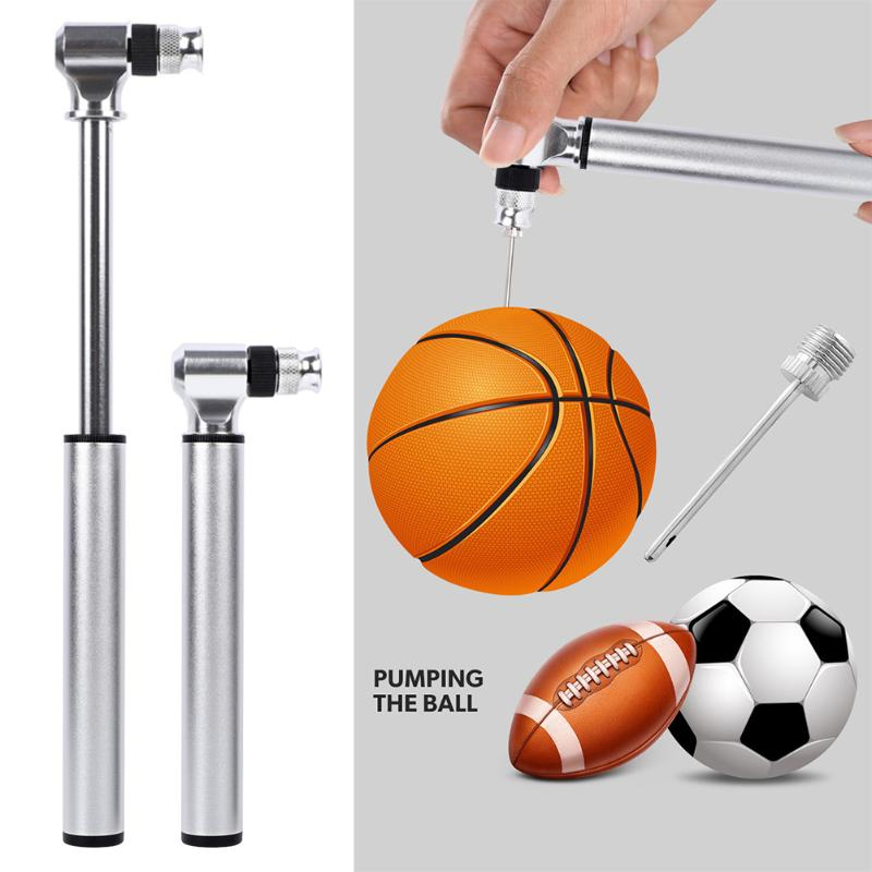 Mini Bike Pump Basketball Football Ball Inflating Tool AL Portable Bycicle Pump