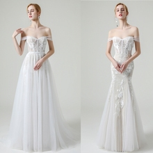 Strand Trouwjurken Kapmouwtjes Bruidsjurken Sweetheart Hals Lace Vestido De Novia Illusion Mermaid Robe De Mariage