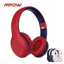 سماعات Mpow CH6 Plus بلوتوث للأطفال V5.0 سماعات رأس لاسلكية 95dB محدودة مع مايكروفون 15h وقت اللعب للدراسة عبر الإنترنت لوحة أجهزة الكمبيوتر