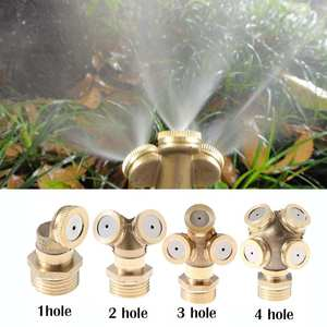 "1/2"" Misting Nozzle Brass Atomizing Spray Fitting Nebulizer Hose Connector Water Sprinkler Adjustable for Garden Lawn Irrigation"