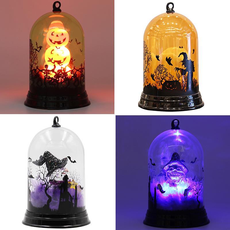 Pumpkin Lamp Pumpkin Light Hanging Lantern Romantic Creative Halloween LED Party Bat Garden Kids Witch