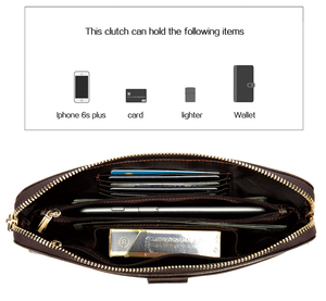 Image 3 - Westal財布男性本革メンズ財布クレジットカードホルダークラッチ男性バッグコイン財布男性本革9041