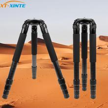 L404C מקצועי סיבי פחמן חצובה צפרות ללא אמצע סרן 40mm גדול צינור עבור מצלמה דיגיטלית למצלמות וידאו