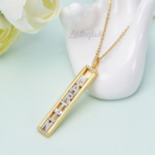 Lateefah Name Custom Necklace Gold Silvery Slide the letter Necklace Name Personality Gold Necklace