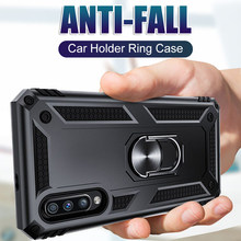 Luxury car holder ring shockproof case for samsung Galaxy A50 A10 A20 A30 A40 A60 A70 M10 M20 M30 M40 soft Full Cover frame case(China)