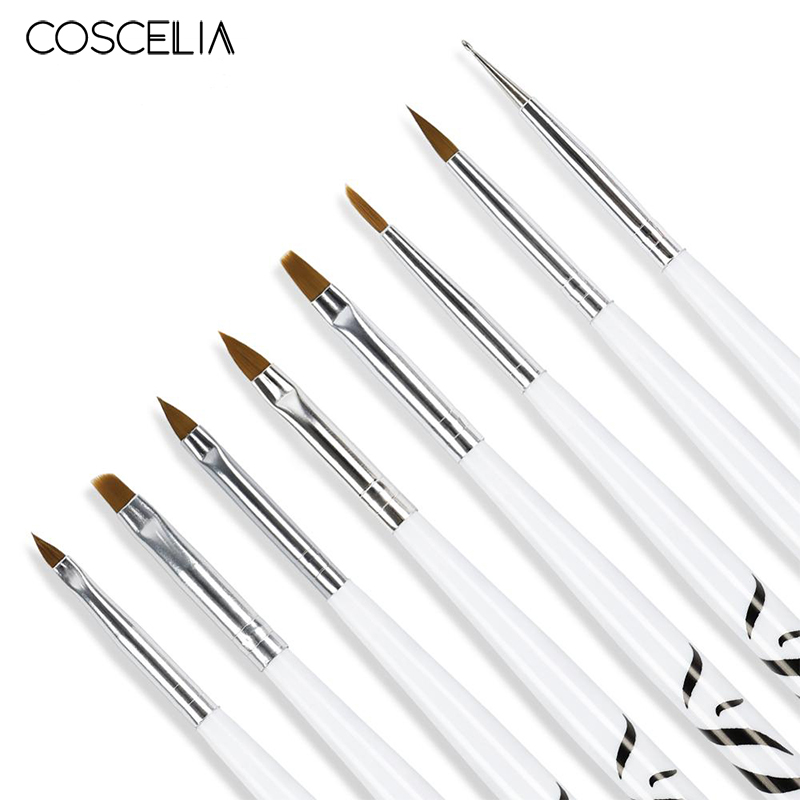 COSCELIA Nail Acrylic Print Pen Set Nail Art Brush Kit For UV Gel Brushes For Nail Manicure Tool For Nails Tools Set