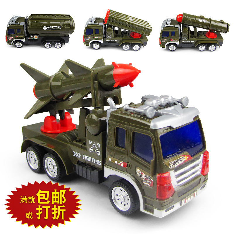 New Style Electric Universal Model Military Model Missile Truck Light And Sound Stall Hot Selling CHILDREN'S Toy