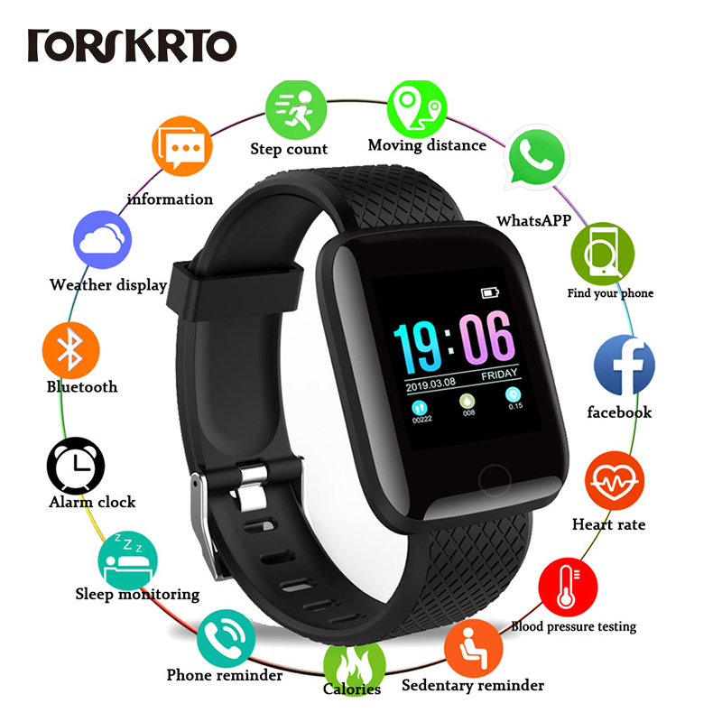 Waterproof Smartwatch Android Women 116 Plus D13 Sport title=
