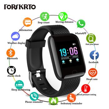D13 inteligentne zegarki 116 Plus zegarek mierzący uderzenia serca inteligentna opaska na rękę zegarki sportowe inteligentna opaska kobiety wodoodporny Smartwatch tanie i dobre opinie forskrto Brak Nadające się do noszenia Wszystko kompatybilny 128 MB Passometer Fitness tracker Wiadomość przypomnienie