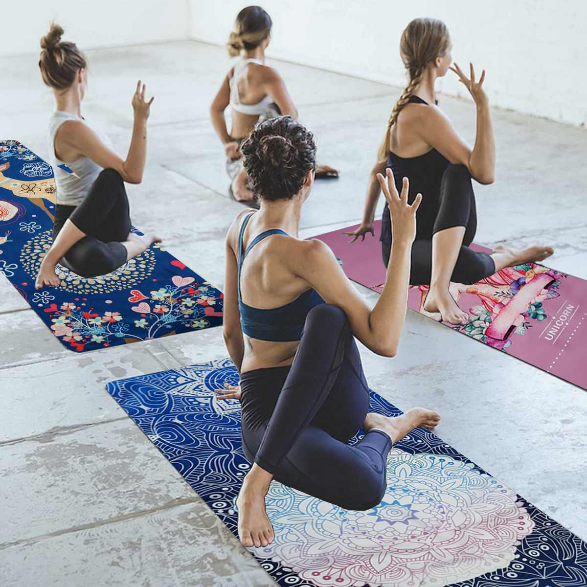 68*183cm Non Slip Yoga Mat Microfiber Towel Fitness Gym Exercise Fitness Pilates Workout Blanket