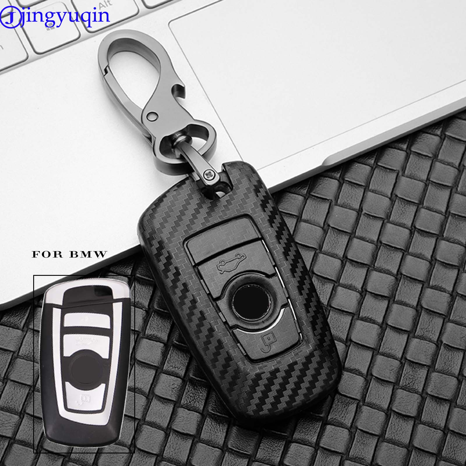 Jingyuqin Car Key Case For BMW 520 525 F30 F10 F18 118i 320i 1 3 5 7 Series X3 X4 M3 M4 M5 Car Styling Protection Key Shell