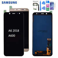 For SAMSUNG Galaxy A6 2018 A600 LCD Display Touch Screen Digitizer Assembly Replacement part For SAMSUNG A6 A600F A600FN LCD