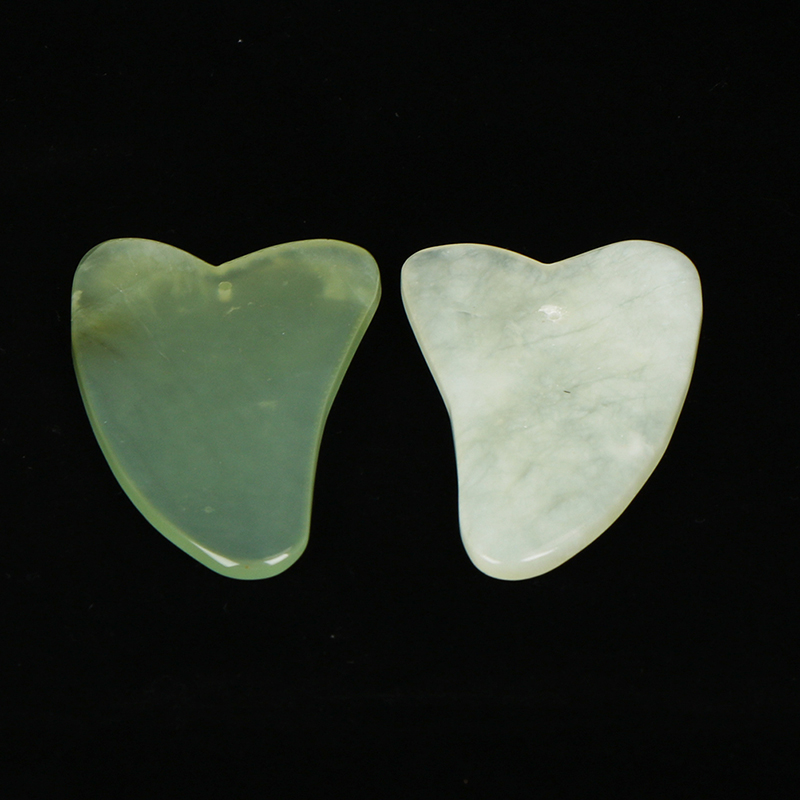 2PCS Chinese Traditional Physical Guasha Jade Board Scraping Scraper Tool SPA Salon Body Massager Beauty Face Care Tools