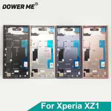 Dower Me konut kapak çerçeve dirsek ön plaka orta çerçeve arka pil kapağı Sony Xperia XZ1 G8341 G8342 yedek