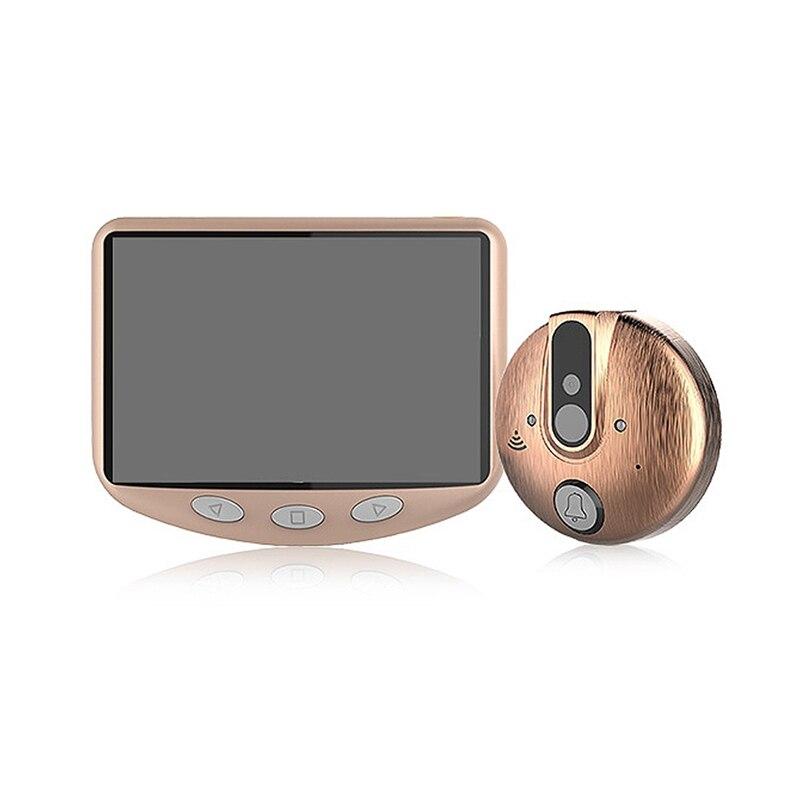 4,3 дюймовый цветной ЖК экран видео глаз дверной зритель ИК ночного видения Визуальный дверной глазок камера фото/видео цифровой дверной звонок камера