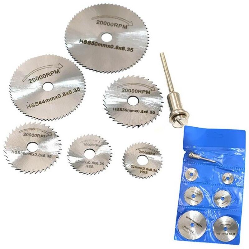 Professional Circular New Portable Rotary Tool Circular Saw HSS Blades Cutting Discs Mandrel Powerful High Speed Dremel Cutoff