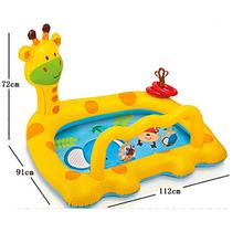 baby pool inflatable kids plastic child pvc chair children's swimming pool for kids infant bath children pool home giraffe cute