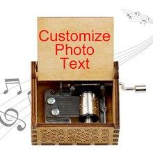 50 diferentes melodias musicais impressão a cores caixa de música personalizado cor foto texto caixa de música deixar mensagem