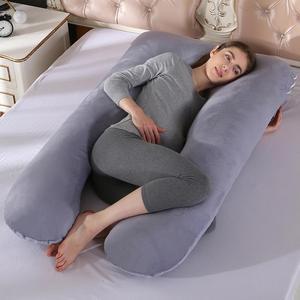 Image 5 - 임신 한 여성을위한 잠자는 지원 베개 바디 코튼 베개 케이스 U 모양 출산 임신 베개 사이드 슬리퍼 침구