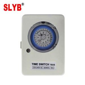 24 часа в сутки автоматические типы 220V 230V аналоговые механические еженедельно поворотный время Управление переключатель TB35 таймер с Батаре...