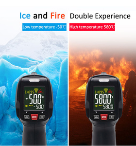 Image 2 - Infrared Thermometer MAXRIENY BTM11 Non Contact IR Digital Pyrometer Temperature Meter Gun Point  50~580 Degree + Alarm + Color