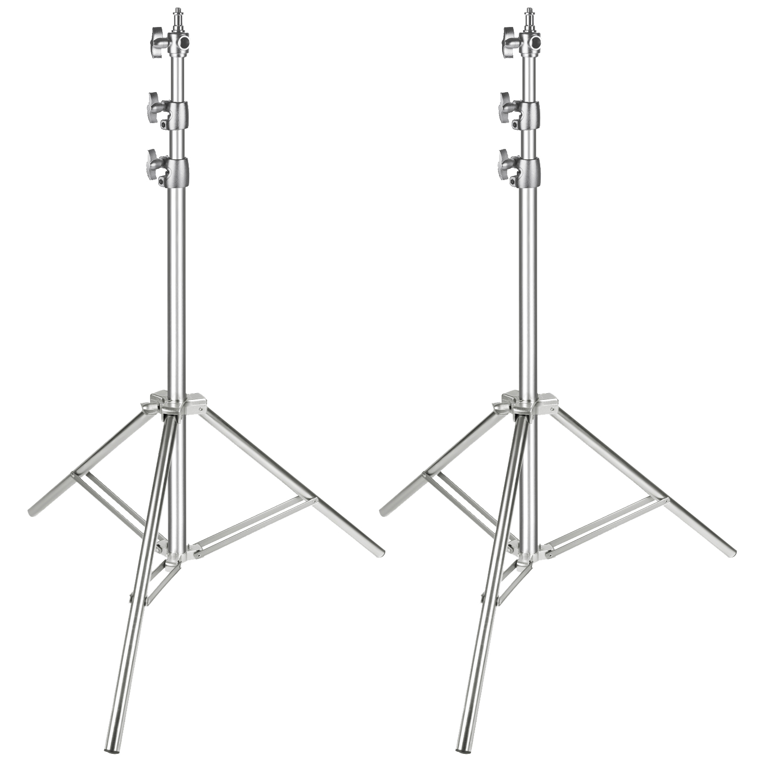 Neewer Stainless Steel Light Stand Silver 86.6 inches Foldable and Portable Heavy Duty Stand for Studio Softbox Monolight